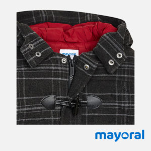 Mayoral - Cappotto a Quadri Bambino Junior