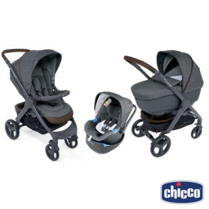 Chicco – Trio Completo StyleGo Up Crossover 2019 con Oasys UP BebèCare Anti-abbandono - Iperbimbo