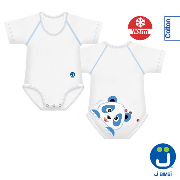 J BIMBI – Body in Caldo Cotone Bio 0-36 mesi Happy Bears Collection Panda - Iperbimbo