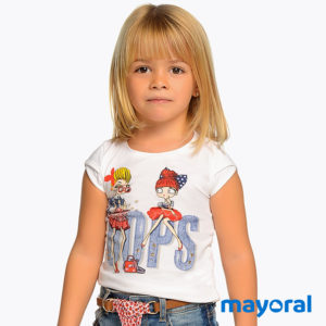 "Mayoral - Maglietta ""Oops"" Bambina Junior"